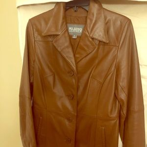Leather jacket camel color 100% authentic leather